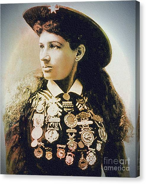 Annie Oakley - Shooting Legend Canvas Print