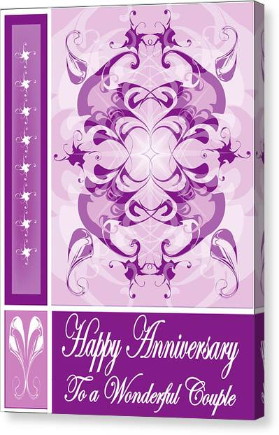 Anniversary Card 1 Canvas Print by George Pasini