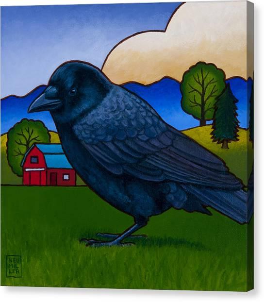 Anns Crow Canvas Print