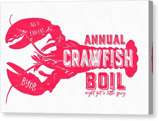 Gumbo Canvas Print - Annual Crawfish Boil Poster by Edward Fielding