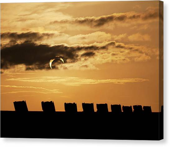 Annular Eclipse Over Cadillac Ranch Canvas Print