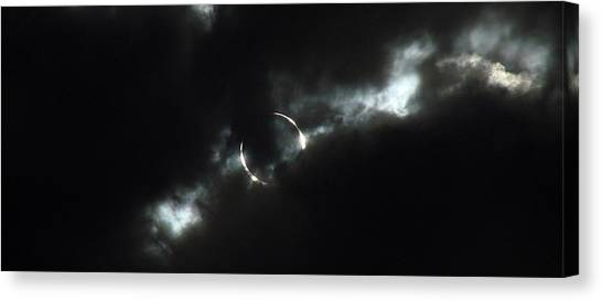 Solar Eclipse Canvas Print - Annular Eclipse Ring Of Fire 2012 by Scott McGuire