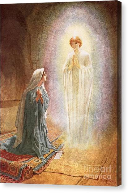 Immaculate Canvas Print - Annunciation by William Brassey Hole