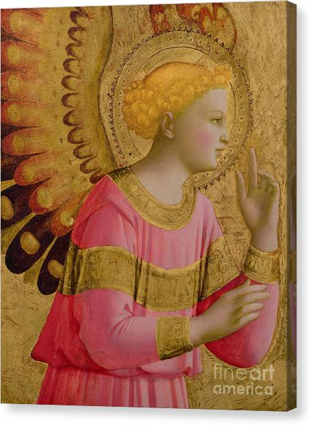 Cherubs Canvas Print - Annunciatory Angel by Fra Angelico