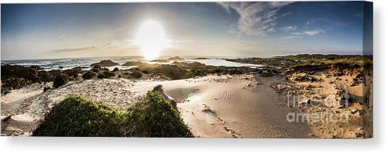 Sandy Beach Canvas Print - Another Beach Sunset by Jorgo Photography - Wall Art Gallery