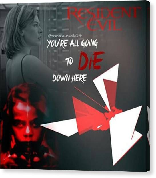Canvas Print - Another Edit By @ronanleask14 😍 by Resident Evil