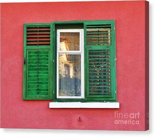 Another Green Shutter Canvas Print