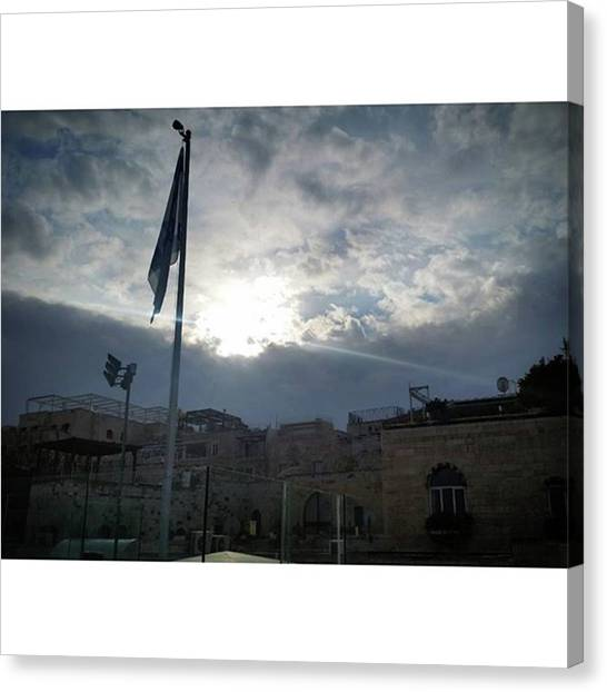 Israeli Canvas Print - Another #jerusalem Shot Off A Roof Top by Shirley Sak