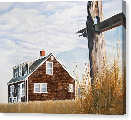 Canvas Print featuring the painting Another New England Sunrise by Dominic White