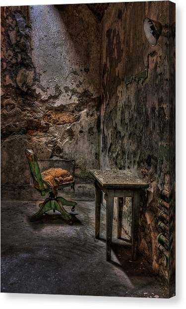 Derelict Canvas Print - Another One Bites The Dust by Evelina Kremsdorf