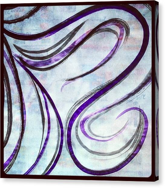 Expressionism Canvas Print - Another Piece Of My Rice Paper Roll Ink by Crystaleyezed Fine Arts