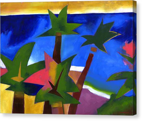 Coconut Canvas Print - Another Waikiki by Douglas Simonson