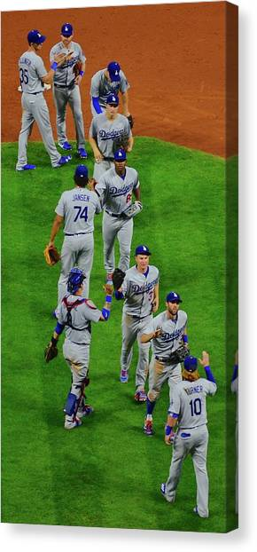 Los Angeles Dodgers Canvas Print - Another Win by Frozen in Time Fine Art Photography
