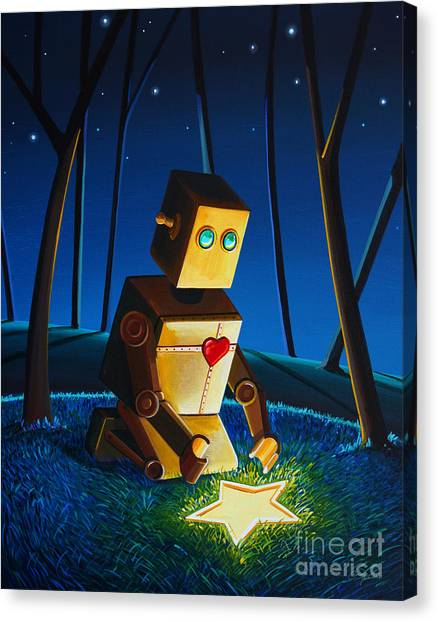 Shooting Stars Canvas Print - Another Wish Is Found by Cindy Thornton