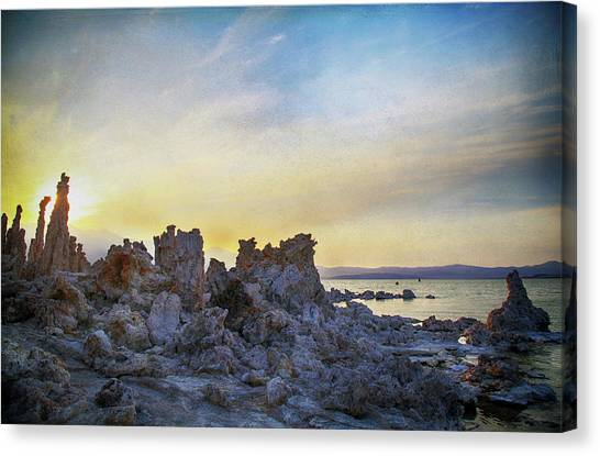 Lake Sunsets Canvas Print - Another World by Laurie Search