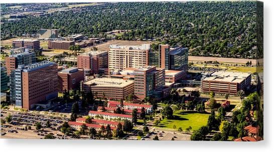 University Of Colorado Canvas Print - Anschultz Medical Center - Aurora Colorado by Mountain Dreams