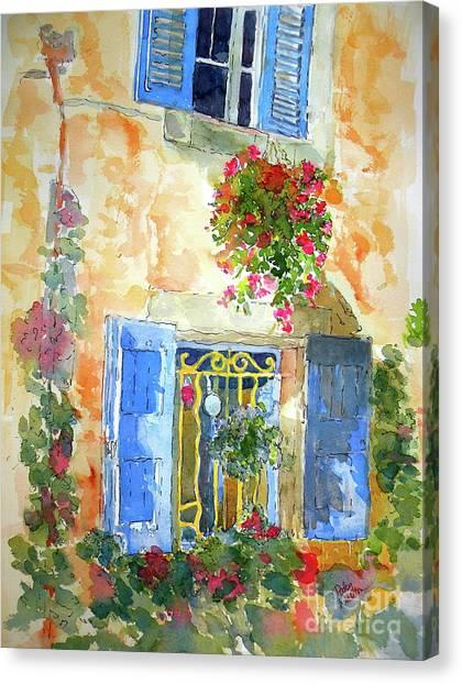 Ansouis Windowbox Canvas Print