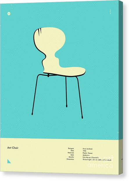 Ants Canvas Print - Ant Chair 1952 by Jazzberry Blue