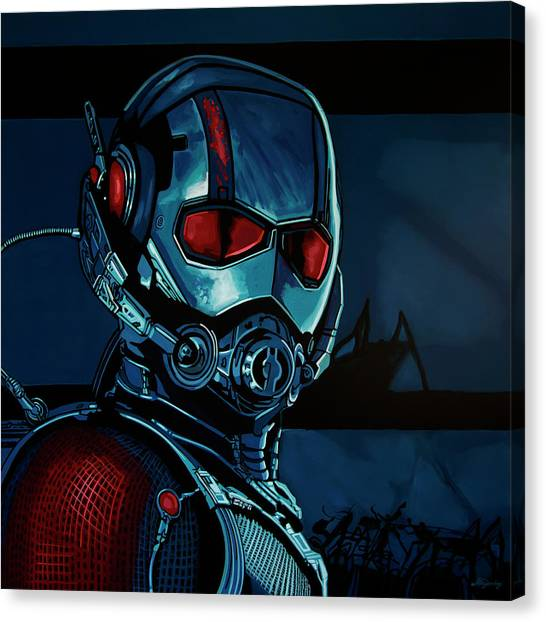 Avengers Canvas Print - Ant Man Painting by Paul Meijering
