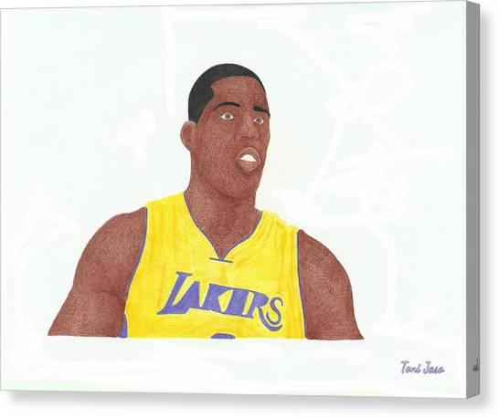 La Lakers Canvas Print - Antawn Jamison by Toni Jaso