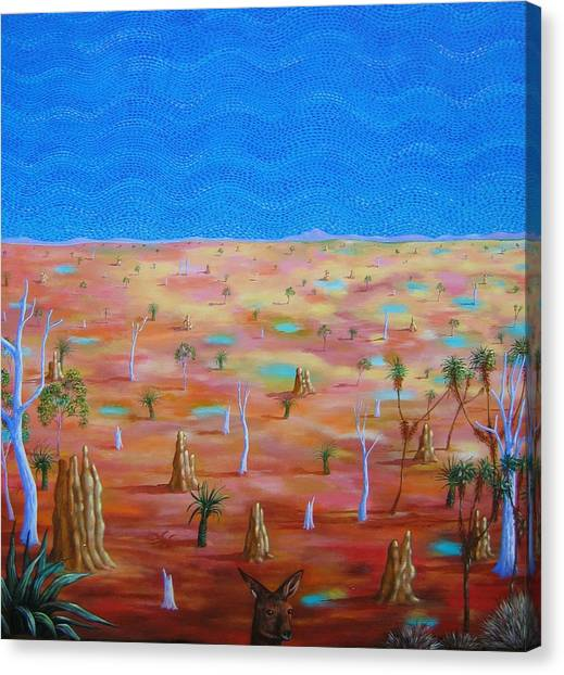 Anthills Canvas Print by Hiske Tas Bain