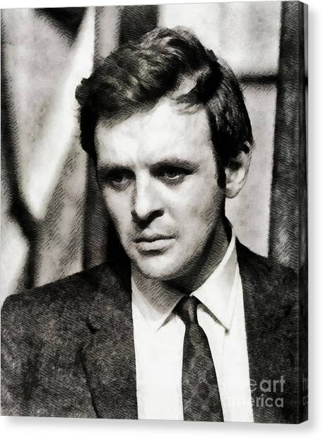 Anthony Hopkins Canvas Print - Anthony Hopkins, Actor by John Springfield