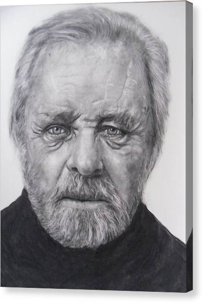 Anthony Hopkins Canvas Print - Anthony Hopkins by Adrienne Martino
