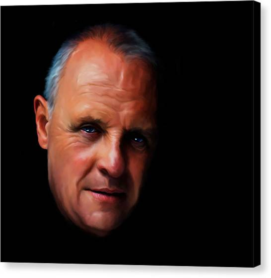 Anthony Hopkins Canvas Print - Anthony Hopkins by Martin James