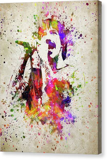 Red Hot Chili Peppers Canvas Print - Anthony Kiedis In Color by Aged Pixel