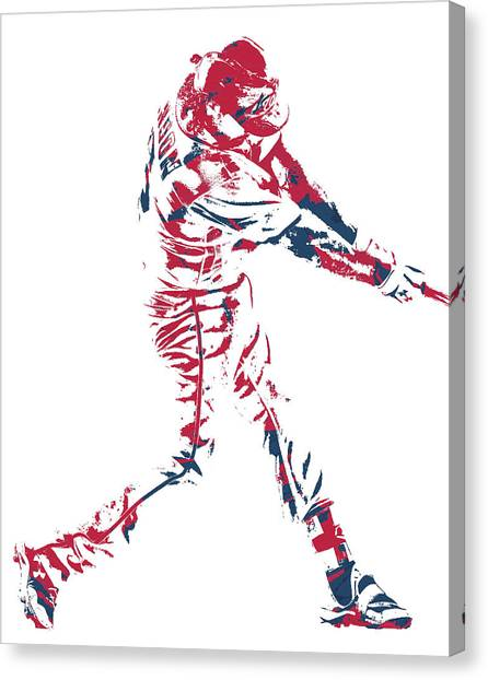 Washington Nationals Canvas Print - Anthony Rendon Washington Nationals Pixel Art 1 by Joe Hamilton