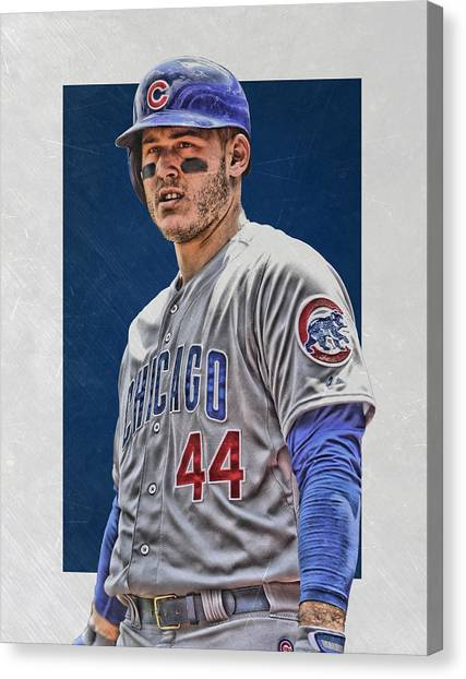 Chicago Cubs Canvas Print - Anthony Rizzo Chicago Cubs 3 by Joe Hamilton