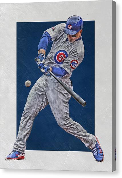 Chicago Cubs Canvas Print - Anthony Rizzo Chicago Cubs Art 1 by Joe Hamilton