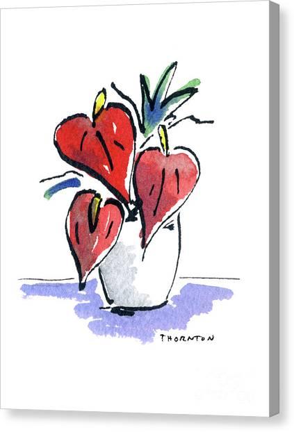 Anthurium Vase Canvas Print