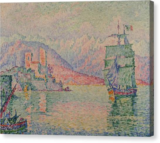 Divisionism Canvas Print - Antibes Evening by Paul Signac