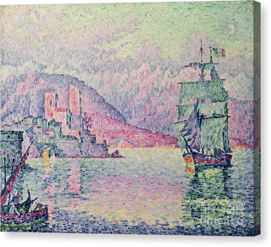 Pointillism Canvas Print - Antibes by Paul Signac