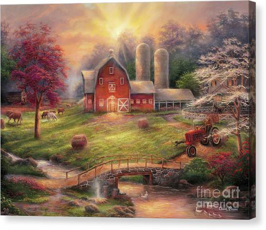 Heart Canvas Print - Anticipation Of The Day Ahead by Chuck Pinson