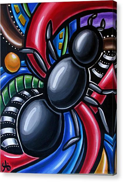 Antics - Abstract Ant Painting - Chromatic Acrylic Art - Ai P. Nilson Canvas Print