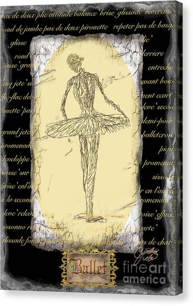Antique Ballet Canvas Print by Cynthia Sorensen