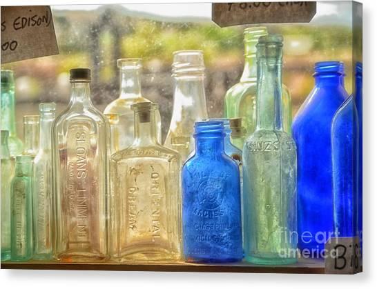 Antique Bottles Canvas Print