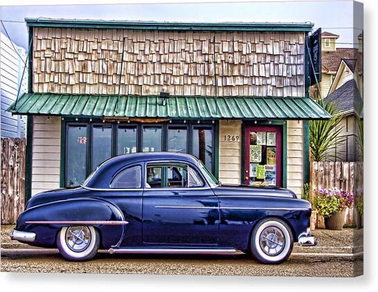 Old Hot Rod Canvas Print - Antique Car - Blue by Carol Leigh