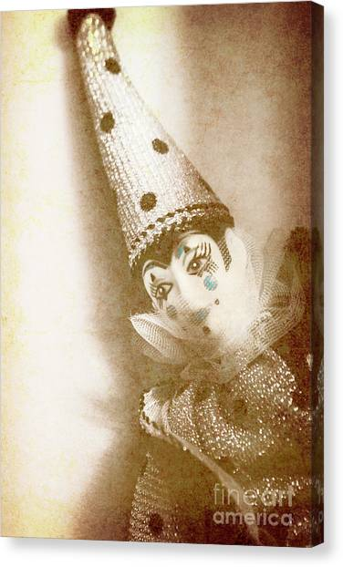 Masquerade Canvas Print - Antique Carnival Doll by Jorgo Photography - Wall Art Gallery