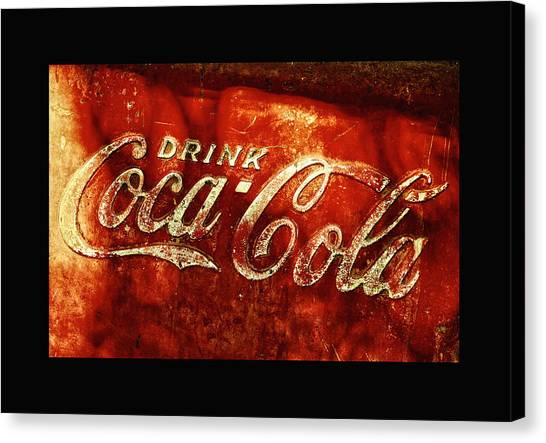 Antique Coca-cola Cooler II Canvas Print