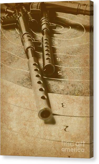 Rifles Canvas Print - Antique Defence  by Jorgo Photography - Wall Art Gallery