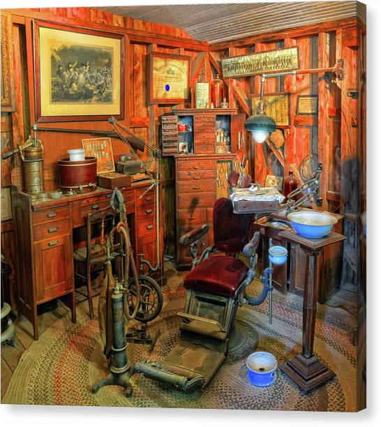 Antique Dental Office Canvas Print