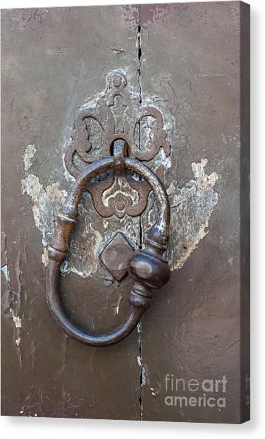 Old Door Canvas Print - Antique Door Knocker by Elena Elisseeva