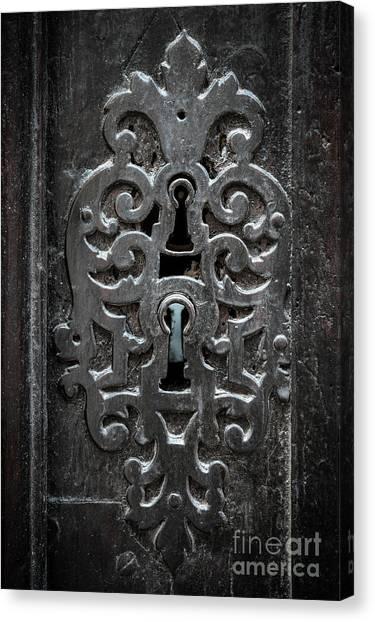 Old Door Canvas Print - Antique Door Lock by Elena Elisseeva