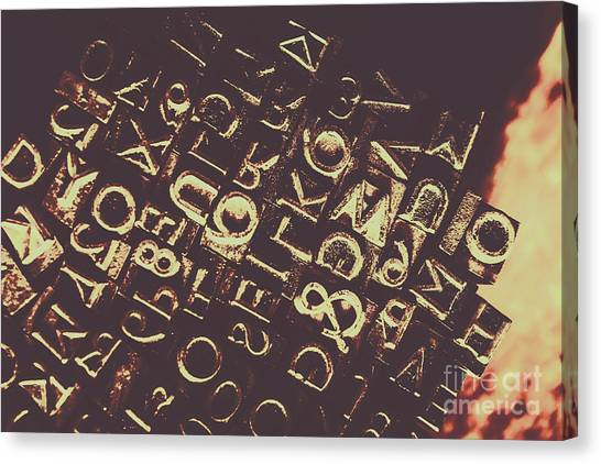 Communications Canvas Print - Antique Enigma Code by Jorgo Photography - Wall Art Gallery