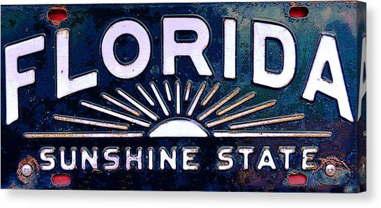 Florida License Plates Canvas Print - Antique Florida License Plate by David Lee Thompson  sc 1 st  Fine Art America & Florida License Plates Canvas Prints | Fine Art America