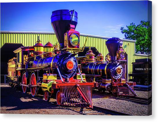 Steam Trains Canvas Print - Antique Gingerbread Trains by Garry Gay