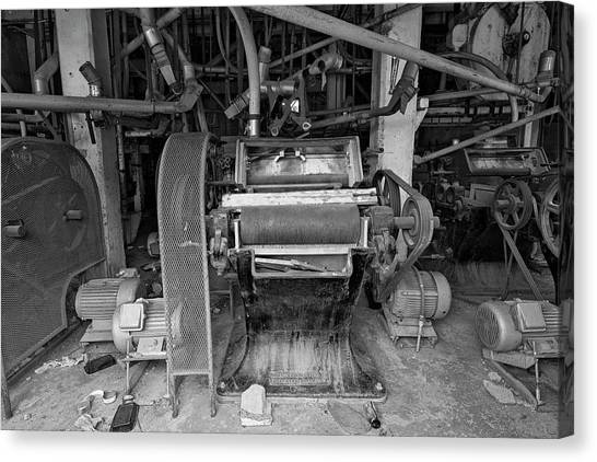 Arizona State University Asu Tempe Canvas Print - Antique Grain Equipment by Dave Dilli